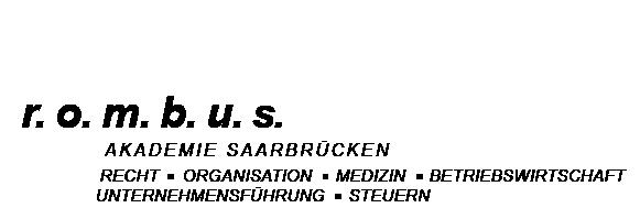 r. o. m. b. u. s. Akademie Saarbrücken